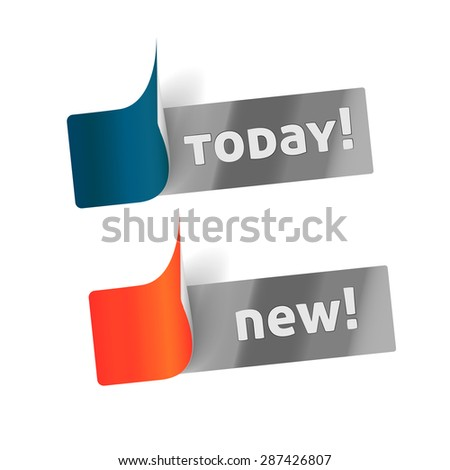 Paper stickers  - stock vector