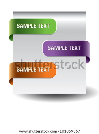 Paper tags. - stock vector
