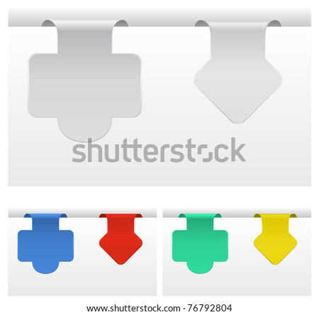 paper tags - stock vector