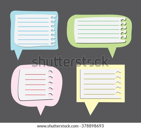Paper text bubbles clip-art - stock vector