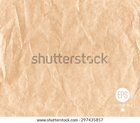 Paper texture. Vector art. Web and mobile interface, website template. Brown, beige soft pastel colors - stock vector