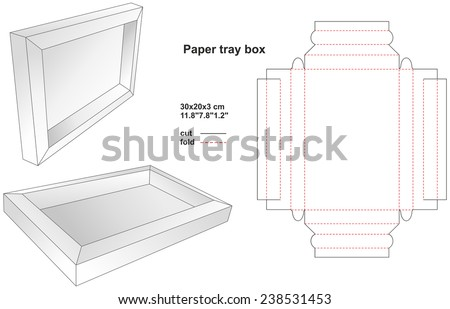 Paper tray box - stock vector