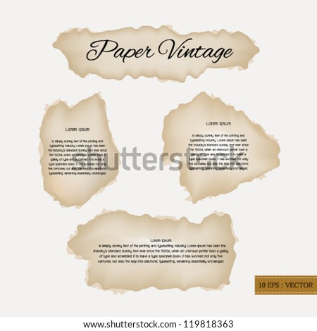 Paper vintage - stock vector