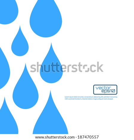Paper water drop abstract background. Perfect for your business presentations. Vector illustration - stock vector