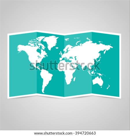 Paper  world map. Vector illustration - stock vector