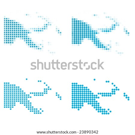 Papua New Guinea map mosaic set. Isolated on white background. - stock vector
