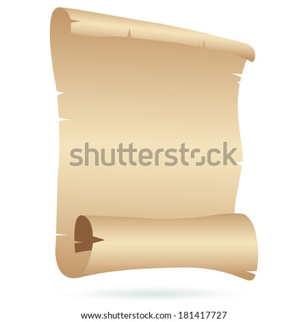 Papyrus on white. Vector - stock vector