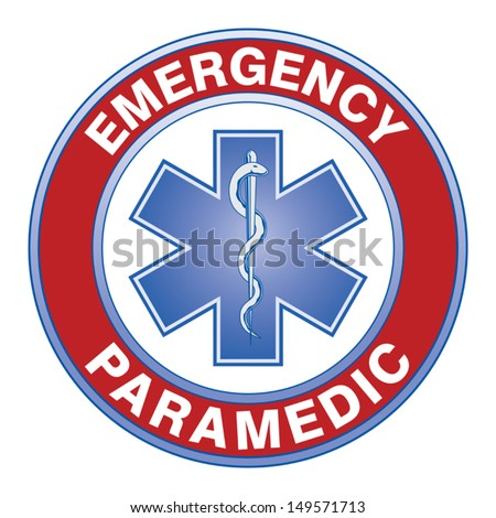 Paramedic Medical Design is an illustration of an emergency paramedic design with star of life medical symbol. - stock vector