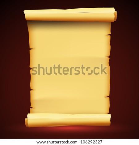 Parchment Paper Antique Background - stock vector