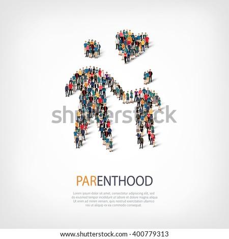 parenthood people  symbol - stock vector