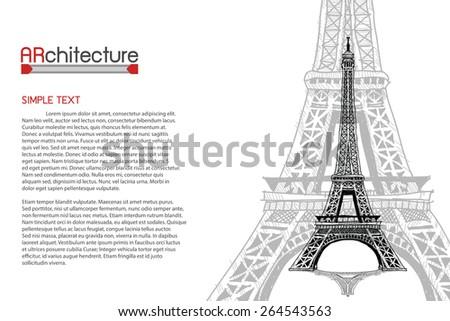 Paris - hand drawn  - stock vector