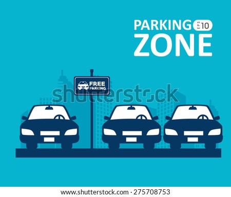 Parking design over blue background, vector illustration. - stock vector