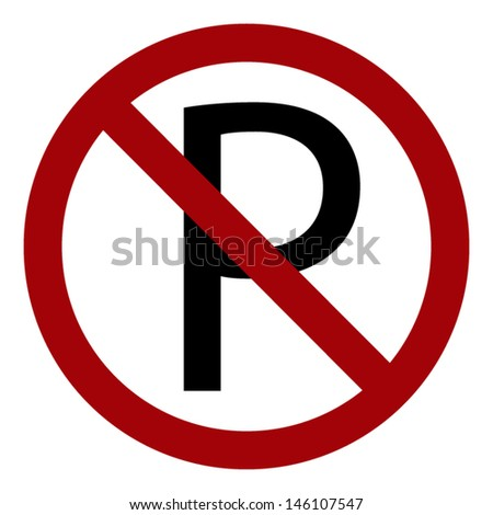 Parking is not allowed forbidden sign - stock vector