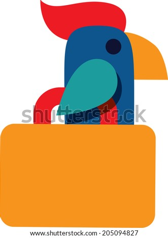 Parrot icon travel  - stock vector