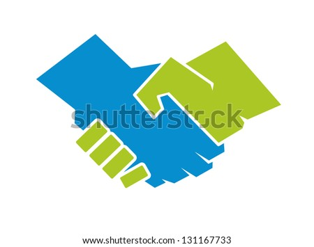 Partnership handshake. Jpeg (bitmap) version also available in gallery - stock vector