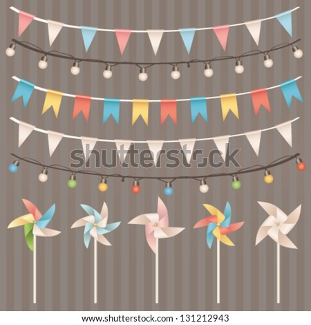 Party design elements collection. Vector set - stock vector