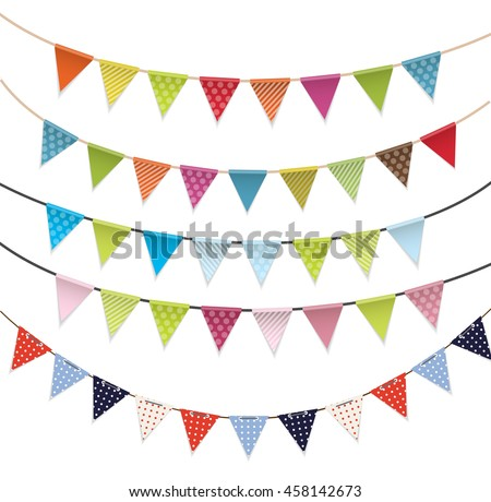 Party Flags Set Vector Illustration EPS10 - stock vector