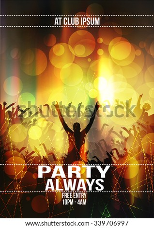 Party Flyer Background - Vector Illustration - stock vector