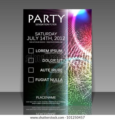 Party flyer design - stock vector