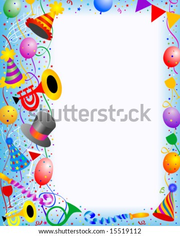 Party frame - stock vector