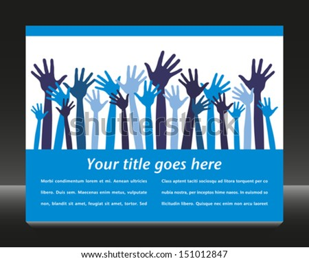 Party hands with copy space vector.  - stock vector