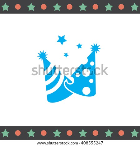 Party Hat vector icon - stock vector