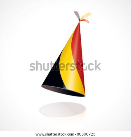 Party hat with Belgium flag - stock vector