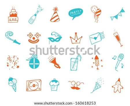 party Icon set   - stock vector