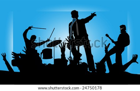 Party musicians concert band 2 - stock vector