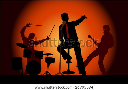 Party musicians concert band 3 - stock vector