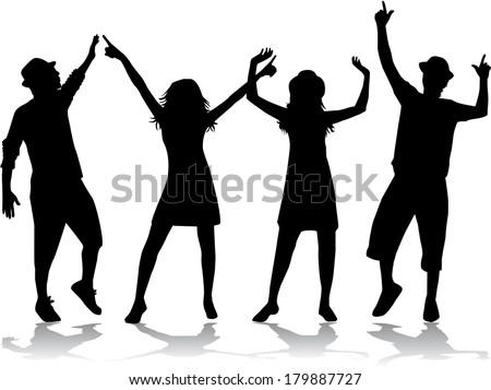 Party People Dancing  - stock vector