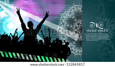 Party people. Vector - stock vector