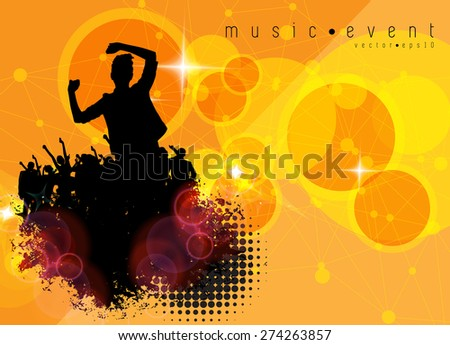 Party people vector background - stock vector