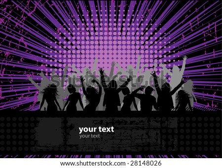 Party peoples, audience cheering success vector background 2 - stock vector