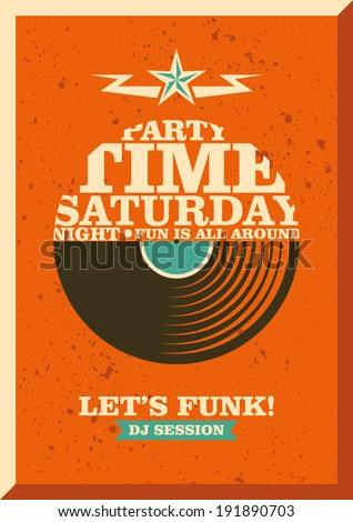 Party poster design with typography. Vector illustration. - stock vector