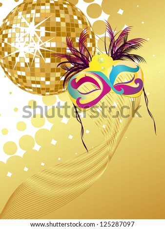 Party poster - vector - stock vector