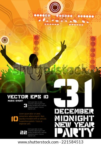 Party poster, vector  - stock vector