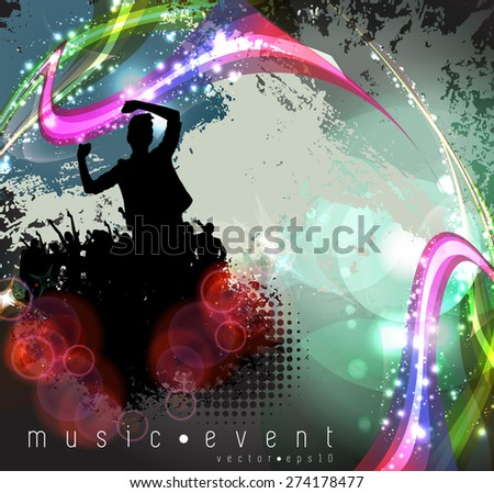 Party poster, vector  - stock vector