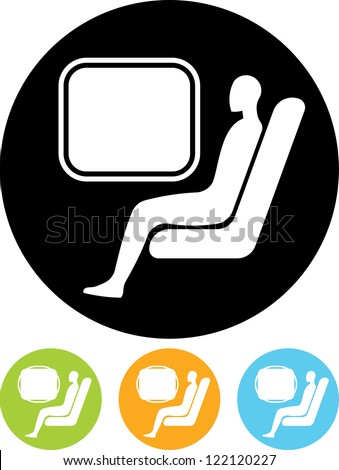 Passenger. Man at train - Vector icon isolated - stock vector