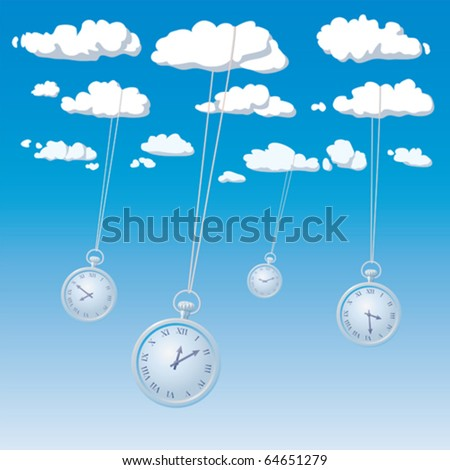 passing time - stock vector