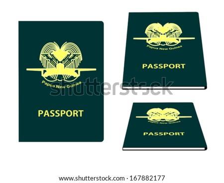 Passport illustration for Papua New Guinea - stock vector