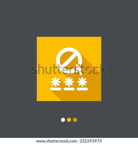 Password access concept icon - stock vector