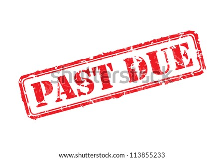 Past due rubber stamp vector illustration. Contains original brushes - stock vector