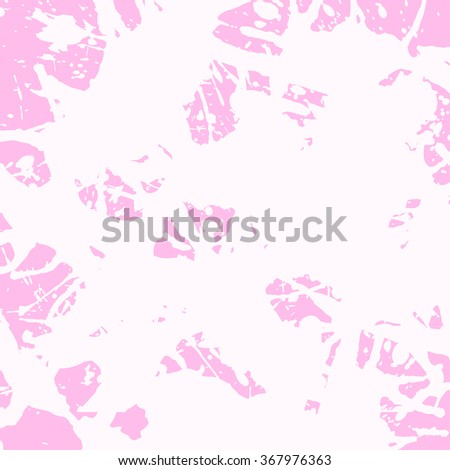 Pastel colored pink artistic paint splashes, square format. - stock vector