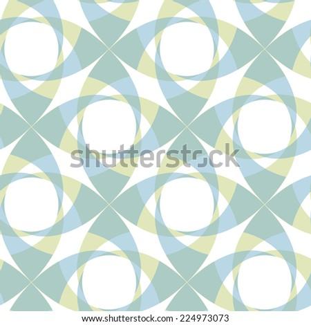 pastel colours, geometric seamless transparent pattern - stock vector