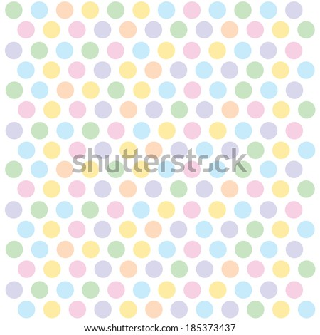pastel polka dots background - stock vector