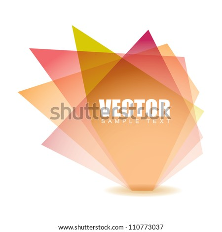 Pastel shade shard with glass elements and white background - stock vector