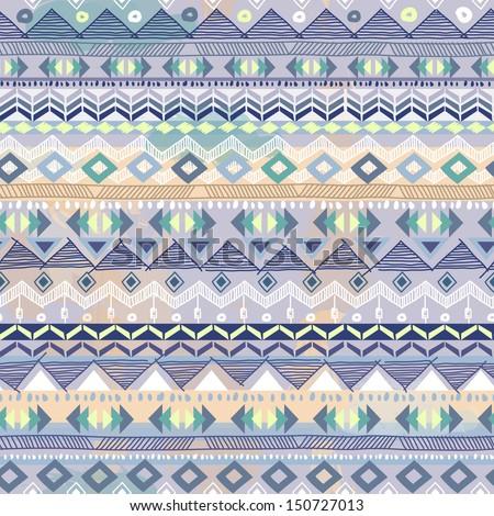 pastel tribal pattern ~ seamless vector - stock vector