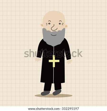 pastor and nun theme elements vector,eps - stock vector