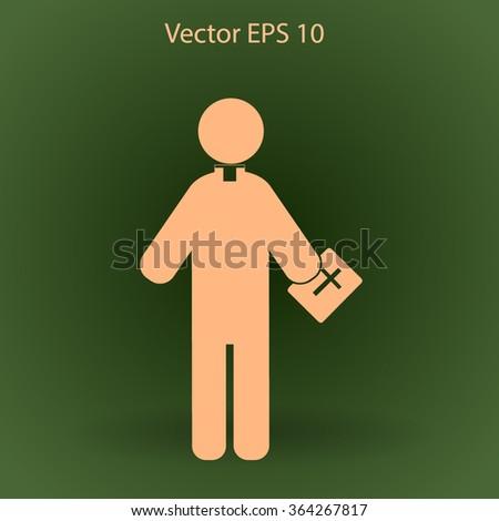 Pastor vector icon - stock vector